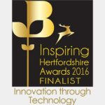 TekOne Technologies Ltd. Innovation Through Technology Award finalist by Hertfordshire Chamber of Commerce