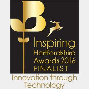 TekOne Technologies Ltd. Innovation Through Technology Award finalist by Hertfordshire Chamber of Commerce